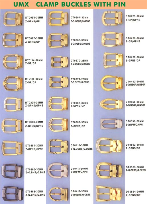 belt buckles with pin and clamp