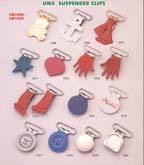 series 2: suspender clips, buckle clips, belt clips, footware clips, leather goods clips, adjstable clips