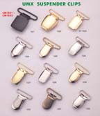 series 3: suspender clips, buckle clips, belt clips, footware clips, leather goods clips, adjstable clips