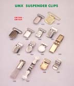 series 5: suspender clips, buckle clips, belt clips, footware clips, leather goods clips, adjstable clips