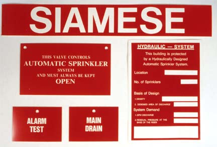 Fire Protection Related Labels: Fire Protection Labels, Fire Alarm Labels, Fire Sprinkler Labels