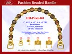 Beaded Purse Handles HH-P4xx-101 For Evening Purses
