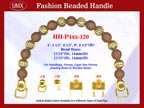 Beaded Purse Handles HH-P4xx-120 For Woman's Purses