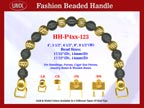 Beaded Purse Handles HH-P4xx-123 For Wedding Purse