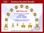 Designer Handbag Handles HH-P4xx-129 For Beaded Designer Handbags