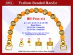 Designer Handbag Handle HH-P4xx-131 For Beaded Designer Handbags