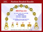 Designer Handbag Handle HH-P4xx-134 For Beaded Evening Handbag