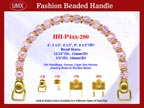 Designer Purse Handle HH-p4xx-200 For Beaded Designer Purses