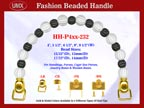 HH-P4xx-232 Designer Purse Handle: Handbag Hardware For Designer Handbags