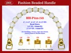 Designer Purse Handle HH-P4xx-248 For Beaded Designer Handbag