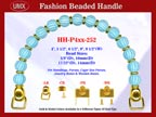 Designer Purse Handle HH-P4xx-252 For Beaded Evening Handbag