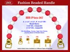 Designer Purse Handles HH-P4xx-267 For Beaded Designer Handbags