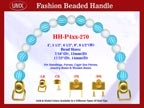 Designer Purse Handle HH-P4xx-270 For Beaded Designer Handbags