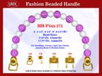 Designer Purse Handles HH-P4xx-271 For Beaded Evening Handbags