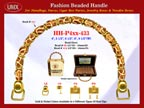Wholesale Handbags Handle HH-Pxx-433 With Mixed Pictorial Bali Beads and Donut Beads.
