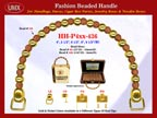 Wholesale Handbag Handle HH-Pxx-436 With Round Bali Beads, Carved Sun Flower Bali Beads and Round Metal Beads