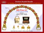 Wholesale Handbags Handles HH-Pxx-437 With Pottery Bali Beads, Global Flower Bali Beads and Metal Beads