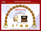 Wholesale Handbag Handles HH-Pxx-443 With Spiral Bead Patterns Crafted Bali Beads
