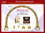 Wholesale Handbag Handle HH-Pxx-447 With Carved Barrel Beads, Flower Drum Bali Beads