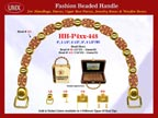 Wholesale Handbags Handles HH-Pxx-448 With Round Metal Beads, Flower Tube Bali Beads