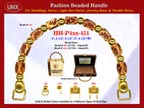 Wholesale Handbag Handle HH-Pxx-451 With Crafted Nugget Beads, Artful Tube Beads