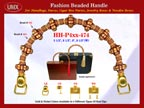 Wholesale Dog Purse Handle Supply: HH-Pxx-474 With Wholesale Bali Flower Ring Beads and Wholesale Bali Drum Beads