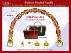 Wholesale Wooden Purses Handle Supply: HH-Pxx-475 With Wholesale Bali Flower Drum Beads and Wholesale Bali Nugget Beads