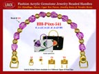 Amethyst Jewelry Beads, Acrylic Amethyst Beads For Women's Formal Handbag Handle: HH-Pxx-541