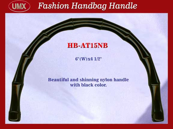 BAMBOO STYLE NYLON PURSE, HANDBAG HANDLE: HB-AT15NB