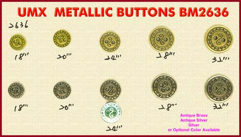 metallic buttons 2636