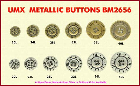 metalic buttons BM2656
