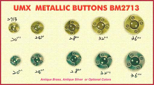metallic buttons BM2713-7
